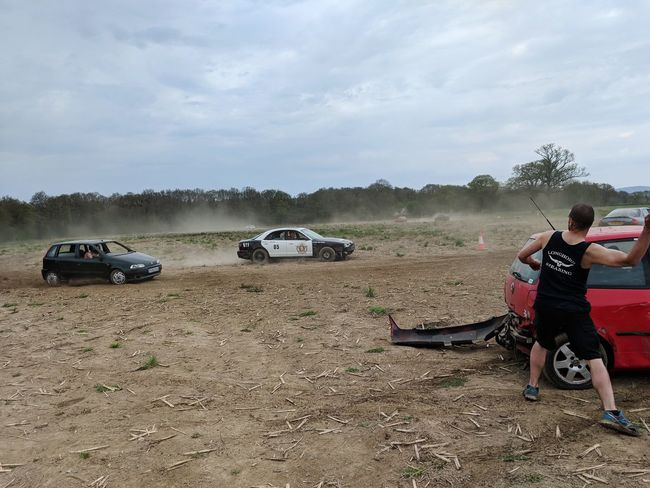 Banger Racing Cop Car Muddy Health And Safety Law Enforcers Stag Do Lads Activity What Happens On Tour Stays On Tour Fun Track