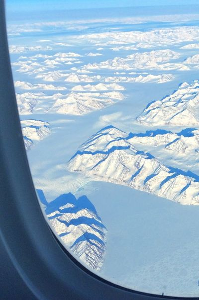 Snow Cold Temperature Winter Beauty In Nature Scenics Nature Aerial View Weather Tranquil Scene Tranquility Landscape Day Snowcapped Mountain Sunlight White Color No People Idyllic Mountain Sky Outdoors Greenland Airplaneview Arctic Arctic Circle