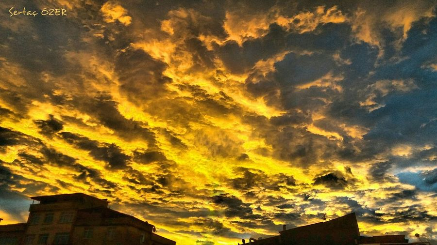First Eyeem Photo Turkey EyeEmBestPics Yellow EyeEm Best Shots - Nature EyeEm Nature Lover Eyeem Turkey Sky And Clouds City Dscafe52 Dramatic Sky Low Angle View Nature Sunset Beauty In Nature Outdoors