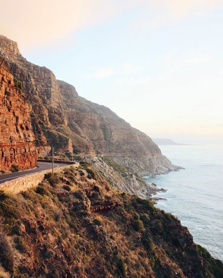 My favourite road. Adventure Beauty In Nature Calm Capetown Cliff Coastline Exploring Horizon Over Water Mountain Nature Non Urban Scene Outdoors Rock Scenics Sea Sky The Great Outdoors - 2016 EyeEm Awards The Great Outdoors With Adobe Tranquil Scene Tranquility Travel Destinations Wanderlust Water The Essence Of Summer