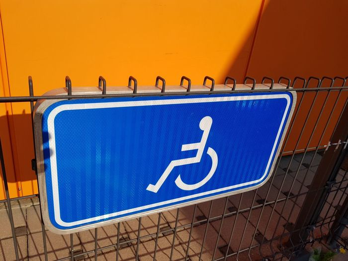 EyeEm Selects Wheelchair Access Wheelchair Differing Abilities Road Sign Communication Guidance Close-up