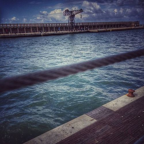 View of pier in sea