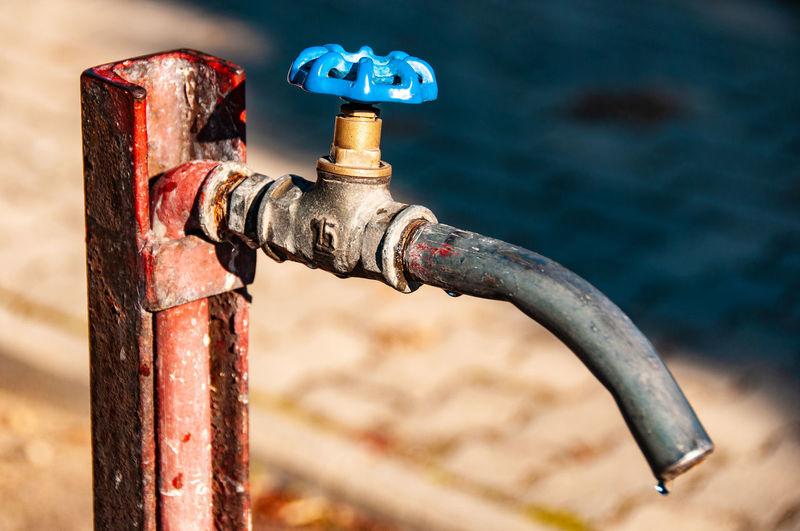 Close-up of faucet