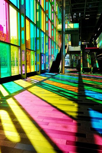 Creative Light And Shadow Montréal Palais Des Congrès Couleurs Ombre Shadow Reflection Colour Of Life,
