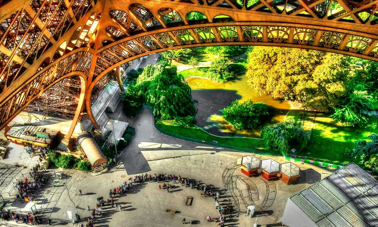 arch, high angle view, day, tree, architecture, built structure, no people, outdoors