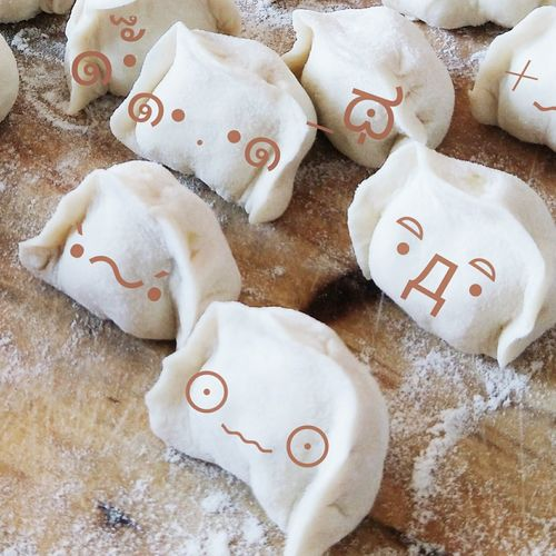 Use Your Imagination Dumpling  Chinese Food So Cute Shape No People High Angle View Heart Shape Indoors