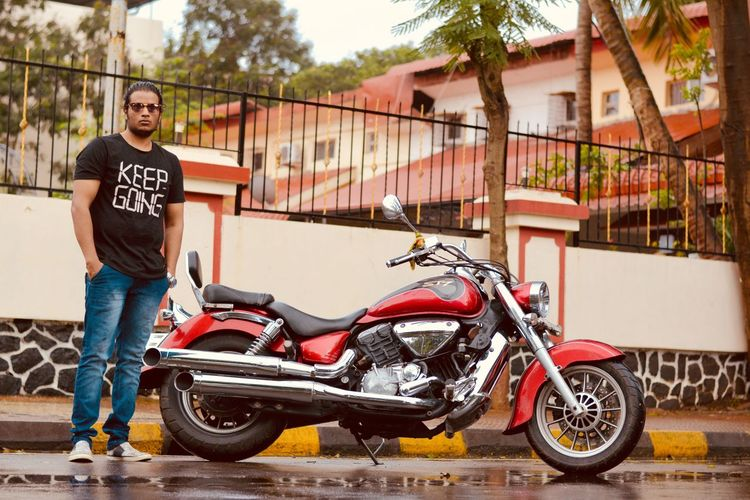Keep Going Never Quit On Ride Hyosung ST7 Superbikesinindia Modeling Passion Traveler Ride Or Die Now Or Never Biker City Portrait Macho Motorcycle Standing Full Length Looking At Camera Alternative Lifestyle Individuality Street Art Jeans Rebellion