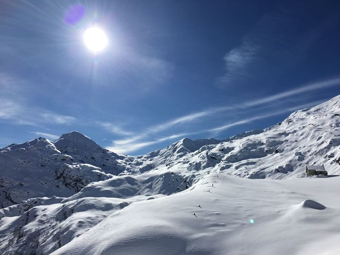 Wonderful day... Valle Strona Campello Monti Freeride Splitboarding Snow Winter Cold Temperature Beauty In Nature Sky Mountain Scenics - Nature Snowcapped Mountain Tranquil Scene Tranquility Sunlight Sun Nature Landscape No People White Color