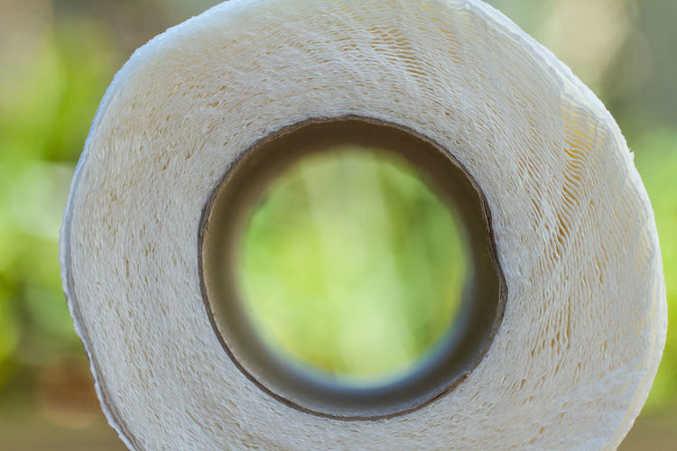 Close-up of hole in pipe