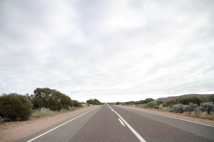 Nullarbor Plain Nullarbor Plain Nullarbor Road Sky Transportation Cloud - Sky Direction The Way Forward Road Marking Diminishing Perspective Nature No People vanishing point Environment Landscape Day Highway