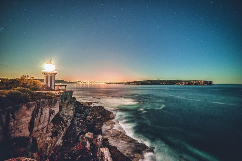 First light at Hornby Lighthouse, Watsons Bay Sea Beauty In Nature Lighthouse Scenics Outdoors