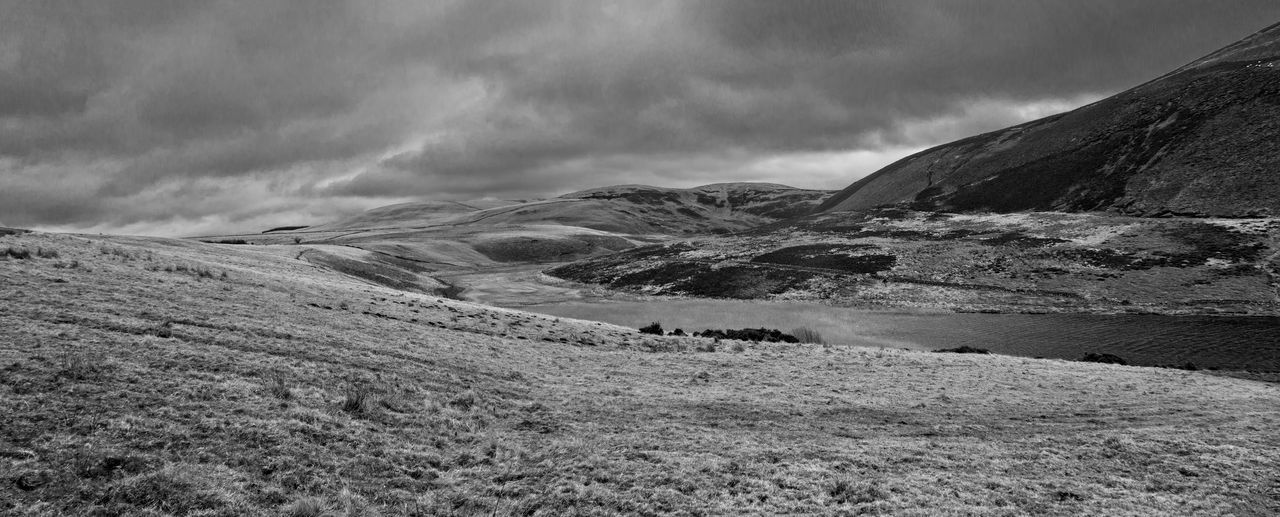 Clouds over the Pentland Hills on a walk around Threepmuir reservoir. Beauty In Nature Black And White Cloud - Sky Landscape Monochrome Mountain Outdoors Pentland Hills Pentlandhills Pentlands Scotland Sky