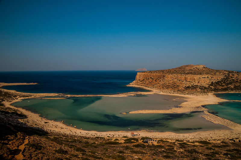 Stunning view of the most beautiful beach in crete