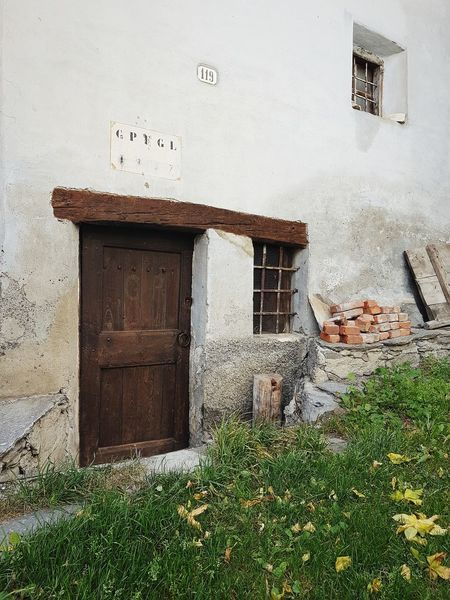 Mountain House The Past Details Autumn Old House Grass Old Door Built Structure Architecture Door Building Exterior Entrance Window House Day No People Doorway Outdoors