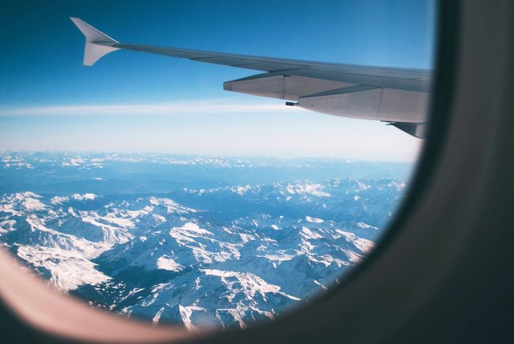 EyeEm Selects Air Vehicle Airplane Flying Mode Of Transportation Transportation Aircraft Wing Aerial View Travel