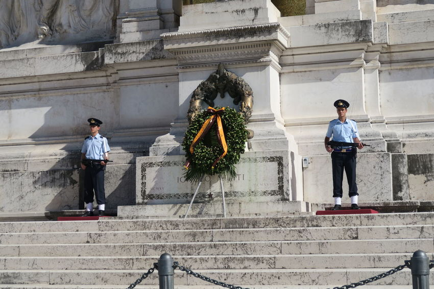 Rome Italy 18 June 2016. Tomb of the Unknown Soldier at Altare della Patria. Guards on the National Monument to Victor Emmanuel II, the king that unified Italy. Altar Altar Of The Fatherland Rome Monument Altare Altare Della Patria Altaredellapatria Capital Cities  Italia Italian Italy National Monument To Victor Emmanuel Ⅱ Roma Roman Rome Rome Italy Tomb Tomb Of The Unknown Soldier At Altare Della Patria Tourism Tourist Attraction  Tourist Destination Travel Destinations Travel Photography Traveling Victor Emmanuel Monument Rome Vittorio Emanuele II Monument Moving Around Rome