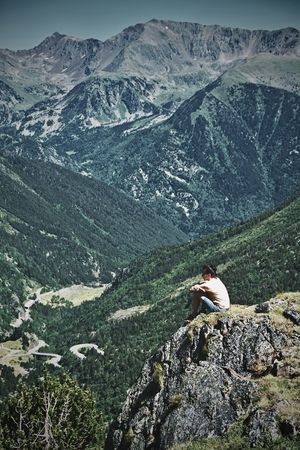 Looking at the Valley (Ordino) Andorra🇦🇩 Adult Adventure Beauty In Nature Day Landscape Mountain Mountain Range Nature One Person Outdoors Real People Rock - Object Scenics Sitting Be. Ready.