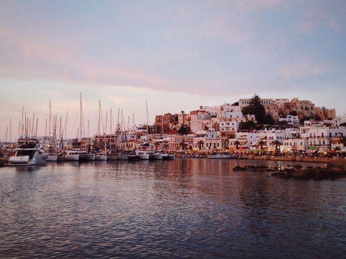 Gorgeous sunset over the sweet island of Naxos Open Edit Traveling Landscape Eye4photography  Travel Photography Greece Sunset Ocean EyeEm Gallery Boats