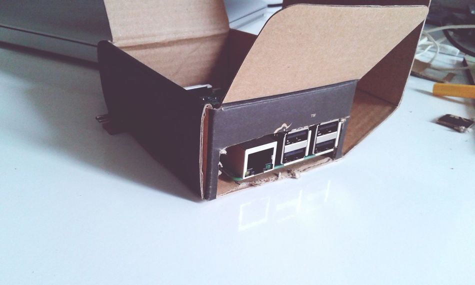 Raspberry Pi cardboard case