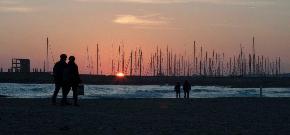 #Tramonto Mare Nettuno Sunset Colori #passeggiata Camminare