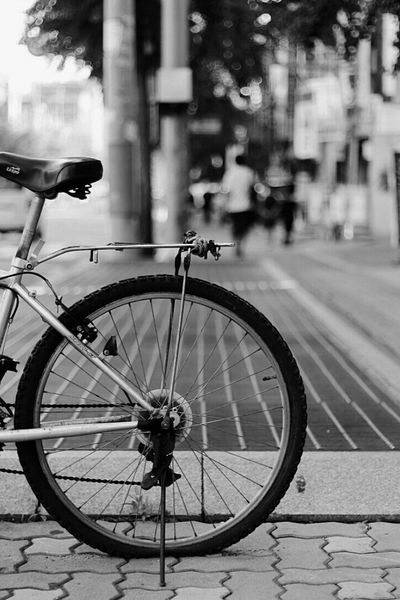 Bycycle Street Monochrome Still Afternoon @korea seoul joonggok-dong @Canon eos 100d / 50mm f1.4