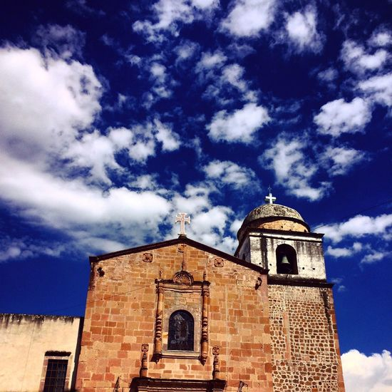 Church Clouds And Sky Copandaro Mexico