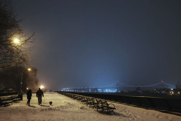 Carl Schurz Park - Blizzard of 2015 First Eyeem Photo New York Newyork Blizzard Carl Schurz Park Park Night Bridge