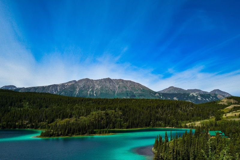 Scenic View Of Emerald Lake By Mountains Against Sky