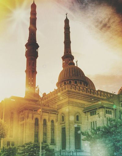 Masjid el Fath Taking Photos Check This Out Hello World Hi! Enjoying Life Perfection Mobile Photography Hdrphotography Taking Photos Cairo Egypt Sunset Photography ISLAM♥ Islamic Mosque ❤