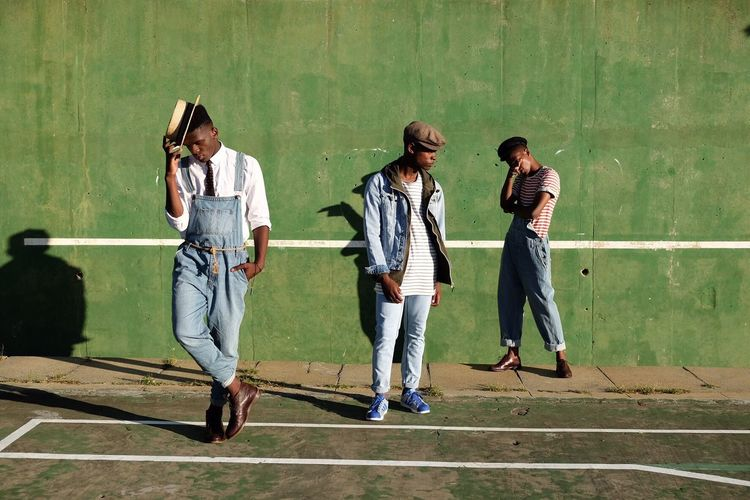 Tennis court taunts in Caie Town. Portrait Capetown Man South Africa