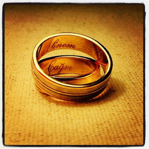 Sinem & Çağrı...... Love Wedding Instalove Ring Life Family Igers Gold
