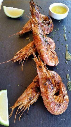 Seafood Food And Drink Freshness Prawnography PrawnsLemonGarlic Close-up