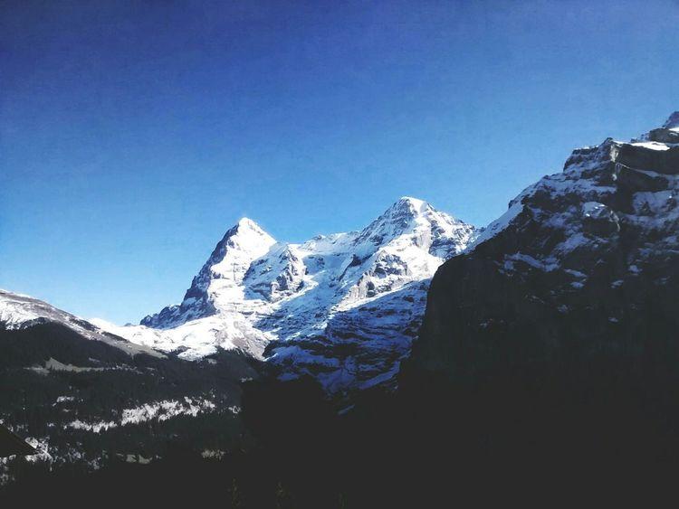 Taking Photos Blue Sky Switzerland Mountains Mountain View Landscape_Collection Snow