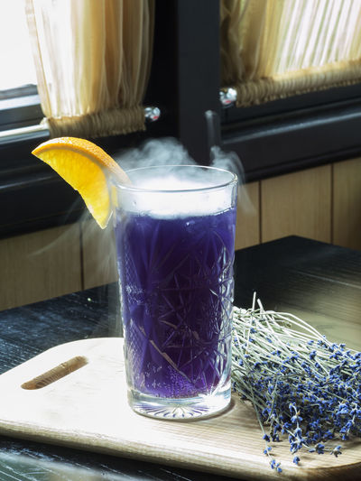 Lavender lemonade with lavender blossom. Healthy fresh nonalcoholic summer drink Lemonade Blossom Close-up Day Drink Dry Flowers Food And Drink Fresh Freshness Healthy Healthy Eating Indoors  Lavender No People Nonalcoholic Summer Table