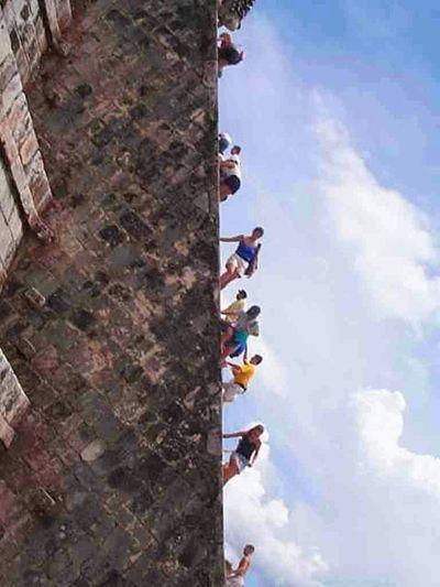 Original Experiences RePicture Travel Travel Pyramid Chichenitza Mexico Climbing Climbing Chichenitza. not allowed any more.