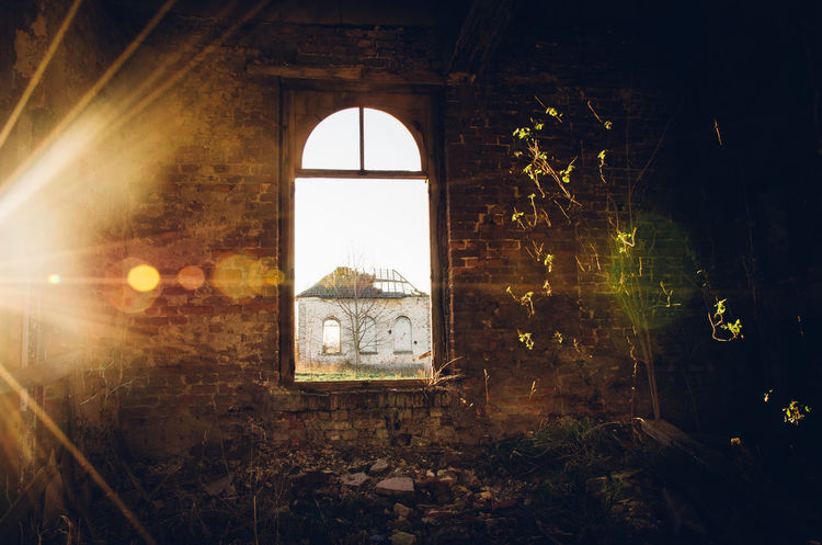 Abandoned Places Weathered Deterioration Broken Abandoned Urbex Arch Window Architecture Building Historic Interior Exterior History Discarded Rusty Old Ruin Run-down Ruined Damaged Worn Out Destruction Shattered Glass