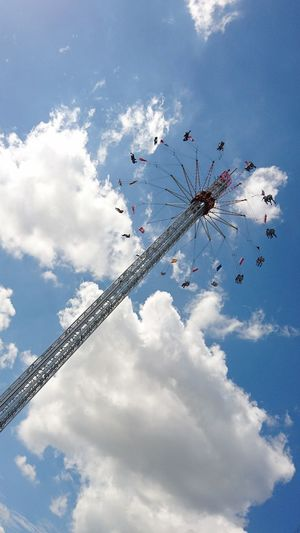 Cloud - Sky Sky Flying Amusement Park Arts Culture And Entertainment Day Outdoors In The Sky Fun Fear High Clouds Are You Ready For This?