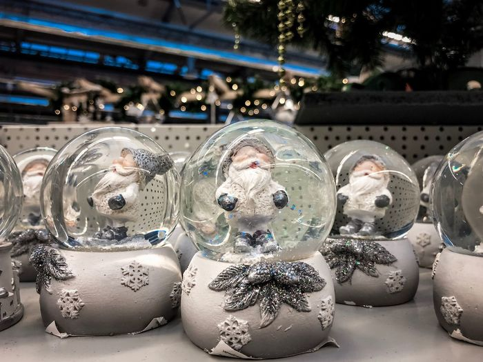 Christmas mood and toys Snow Holiday Toy Toys Happy New Year Marry Christmas Atmosphere Market Close-up No People Christmas Illuminated Celebration Decoration Holiday Art And Craft Focus On Foreground Christmas Decoration Christmas Ornament Glass - Material Representation Store