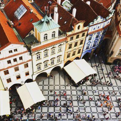 Prague Czech Republic Urban European  Travel Summer People Architecture