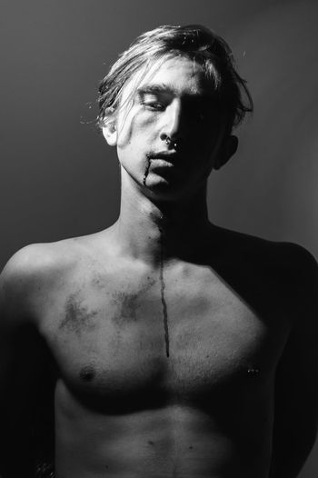 Portrait Of Shirtless Man