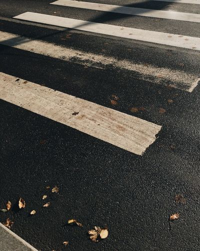 Full Frame Shot Of Road With Markings