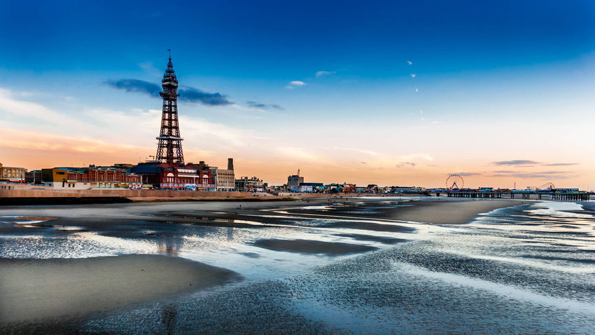 Blackpool Tower from the North Pier Blackpool Blackpool Tower Beach Lancashire