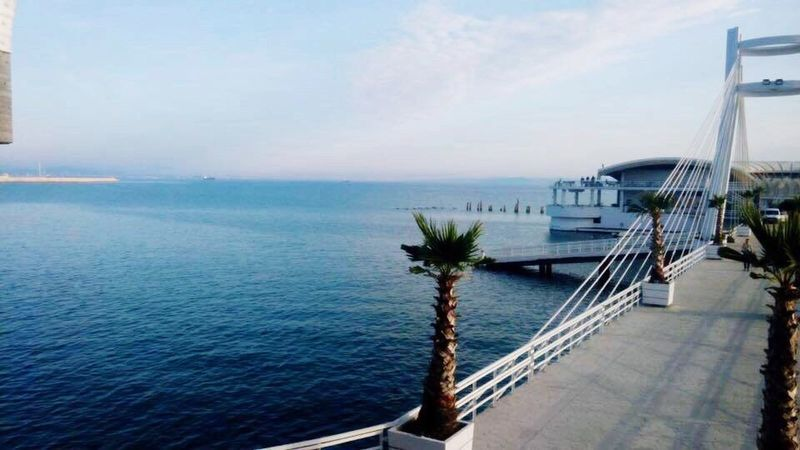 Calmness Calm Water Calmday Built Structure Relaxing Moments Relaxing View Durres Albania PhonePhotography