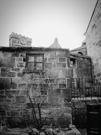 Ruins Cobbled Old School House Simplicity England Old Architecture Building Village Quaint  Hebden Bridge Heptonstall Museum EyeEm Best Shots Light And Shadow Learn & Shoot: Balancing Elements Heptonstall Buildings Stone Wall Black And White Monochrome Black & White Church Walls Stone Windows Taking Photos