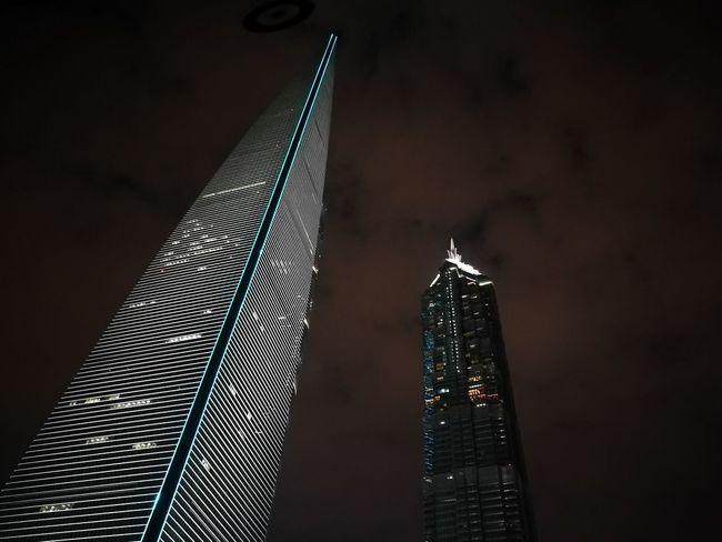 Architecture City Low Angle View Modern Nighttime No People Shanghai Shanghai Skyskraper Silhouette Skyscraper