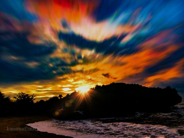 krakal beach Beach KrakalBeach EyeEm Best Shots EyeEm Nature Lover Fullcolor Eyeemsky Krakal Sunset Cloud - Sky Landscape Dramatic Sky Tree Outdoors No People Sky Night Beauty Multi Colored Nature Water Mountain