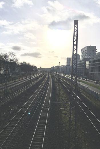Haloo Düsseldorf Pempelfort Gleise Düsseldorf Transportation Sky Cloud - Sky Railroad Track Rail Transportation No People Outdoors