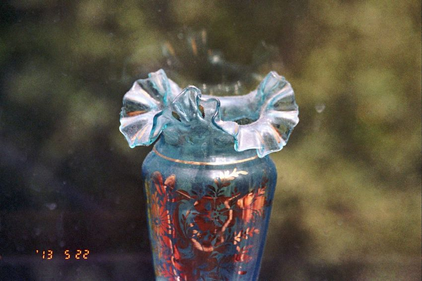 2013 Date Stamp Window Close-up Vase Olympus Koduckgirl Film Bokehlicious Carmel Highlands