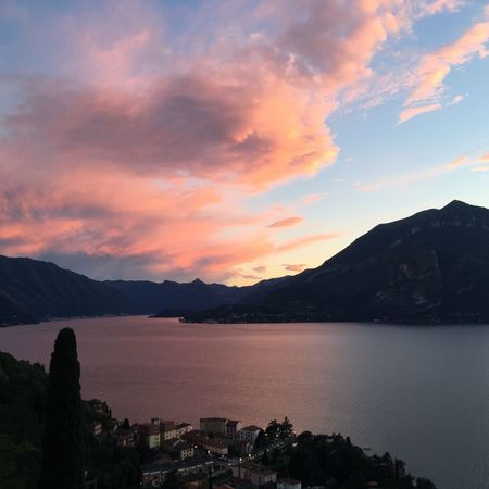 Sunset Varenna Lario Lake Sunset