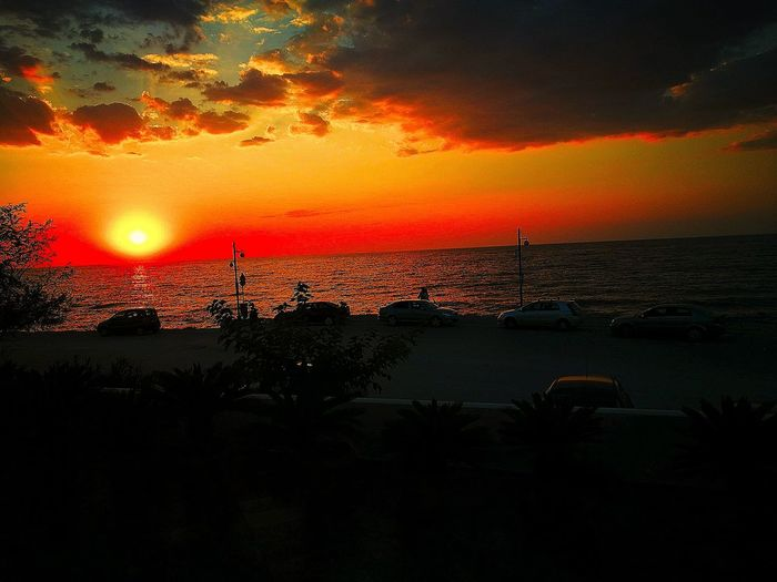 Sunset Sky Sea Horizon Over Water Greek Place Beauty In Nature Photography Editing